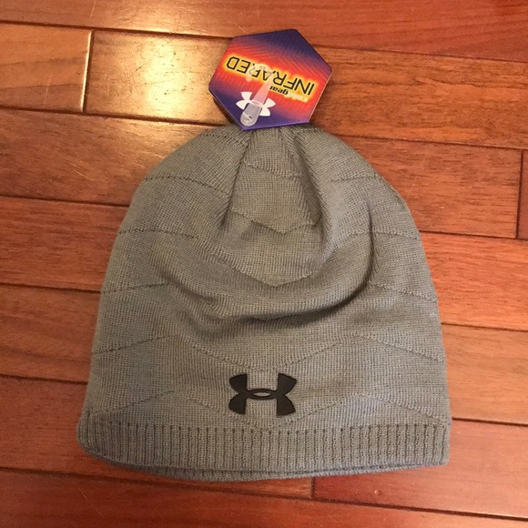 a9a9ad91b07 NEW UA Under Armour Cold Gear Knit Hat Gray